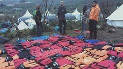 Los colchones 'salvavidas' hechos por voluntarios en