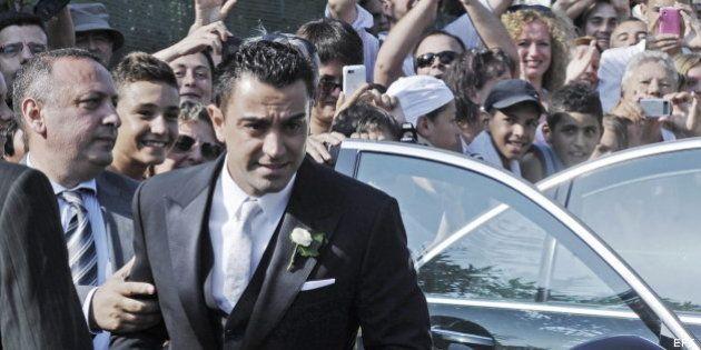 Boda de Xavi Hernández con Nuria Cunillera: las fotos del enlace del futbolista