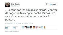 El entrenador del Sevilla admite en Twitter que le han 'cazado' conduciendo