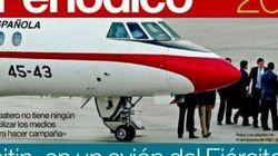 Rajoy usa el Falcon para llegar al cierre de la campaña