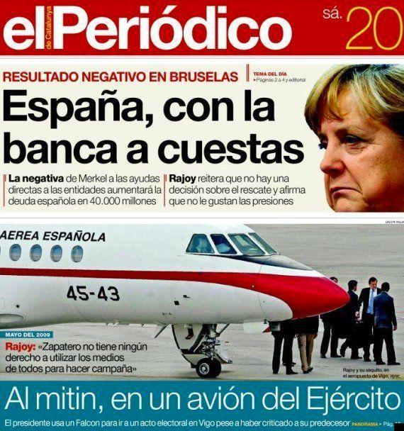 Mariano Rajoy usó el avión militar Falcon para llegar al cierre de la campaña