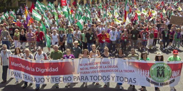 Las 'Marchas de la dignidad' rodean parlamentos autonómicos en toda