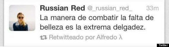Russian Red cierra Twitter tras las críticas por un comentario malinterpretado sobre delgadez (FOTOS,