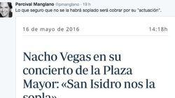 El corte de Nacho Vegas a este tuit de Manglano (PP) sobre su actuación en San