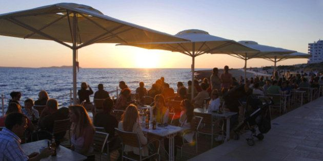 Sunset at Cafe del Mar in