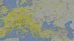 Las aerolíneas comerciales evitan volar sobre el espacio aéreo