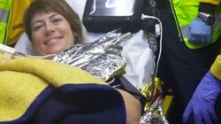 Una mujer da a luz en la M-30 con las instrucciones telefónicas del