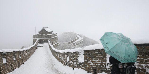 Las bellas fotos de la muralla china cubierta de