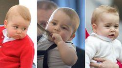Las caras del príncipe Jorge en su primer año