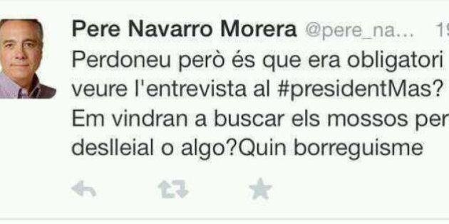 Dimite el community manager de Pere Navarro por un tuit:
