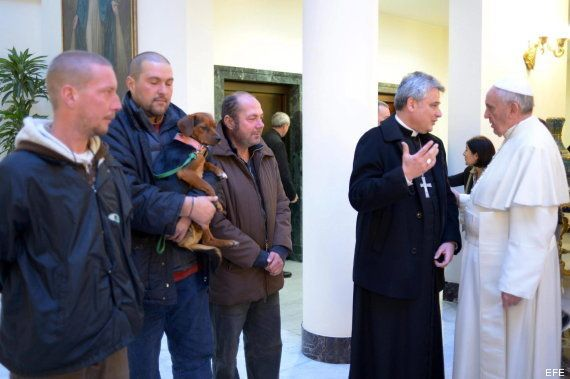Los invitados al cumpleaños del papa Francisco: Cuatro sin hogar y un