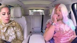 James Corden se disfraza de Lady Gaga para llevarla en 'Carpool