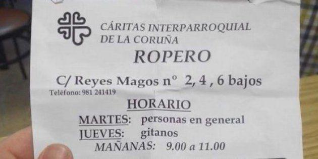 Cáritas pide perdón por el folleto de Cáritas La Coruña que discriminaba entre