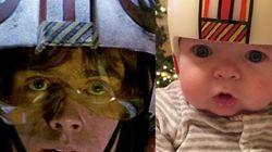 Un padre amante de 'Star Wars' convierte los cascos de su hijo en los de personajes de la