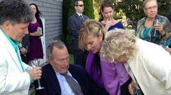 Bush padre, testigo en una boda