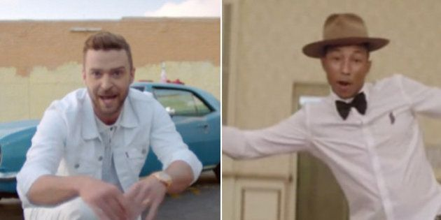 El llamativo parecido de los vídeos de 'Can't stop the feeling' de Justin Timberlake y 'Happy' de Pharrell