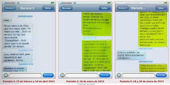 Los sms de Rajoy a Bárcenas: