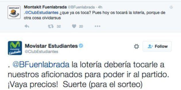 El pique en Twitter entre el Estudiantes y el Fuenlabrada de