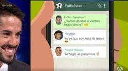 'El Hormiguero' se cuela en el grupo de WhatsApp de Isco con otros
