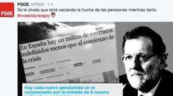 Los tuits del PSOE durante la investidura que nadie