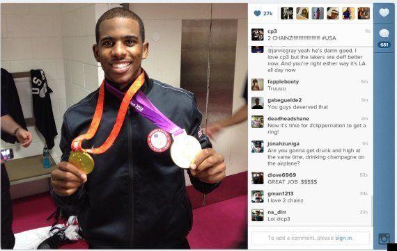 Juegos Londres 2012: Los jugadores de España y Estados Unidos muestran sus medallas en Internet