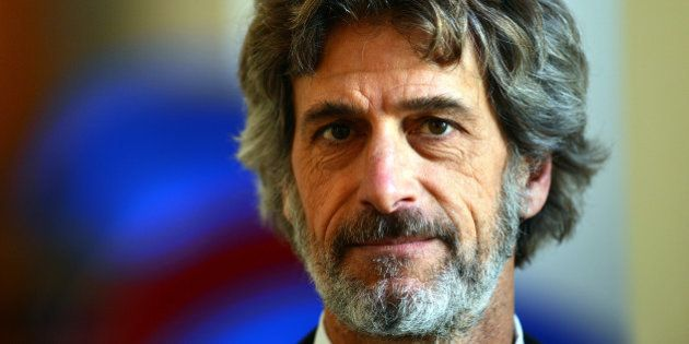 The head of the Italian food group Barilla, Guido Barilla, poses during a press conference at the foreign...