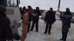 Polémica por el trato policial a un manifestante en Kiev