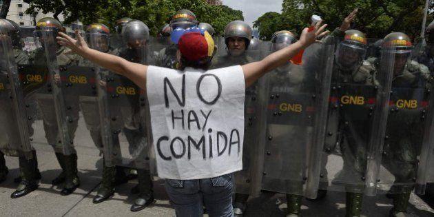 Incidentes durante la marcha opositora en