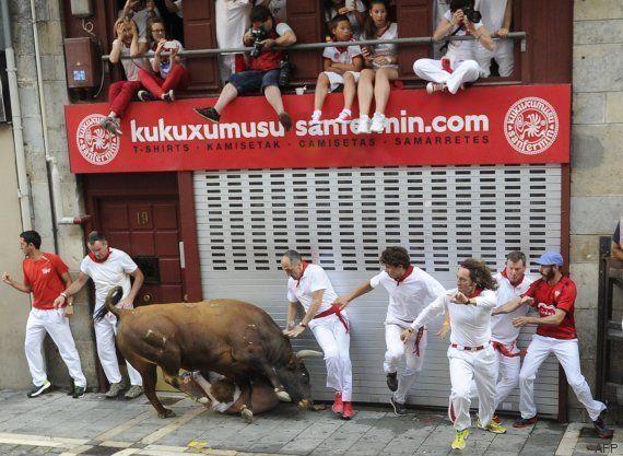 Primer encierro de San Fermín 2015: once heridos, tres por asta de toro