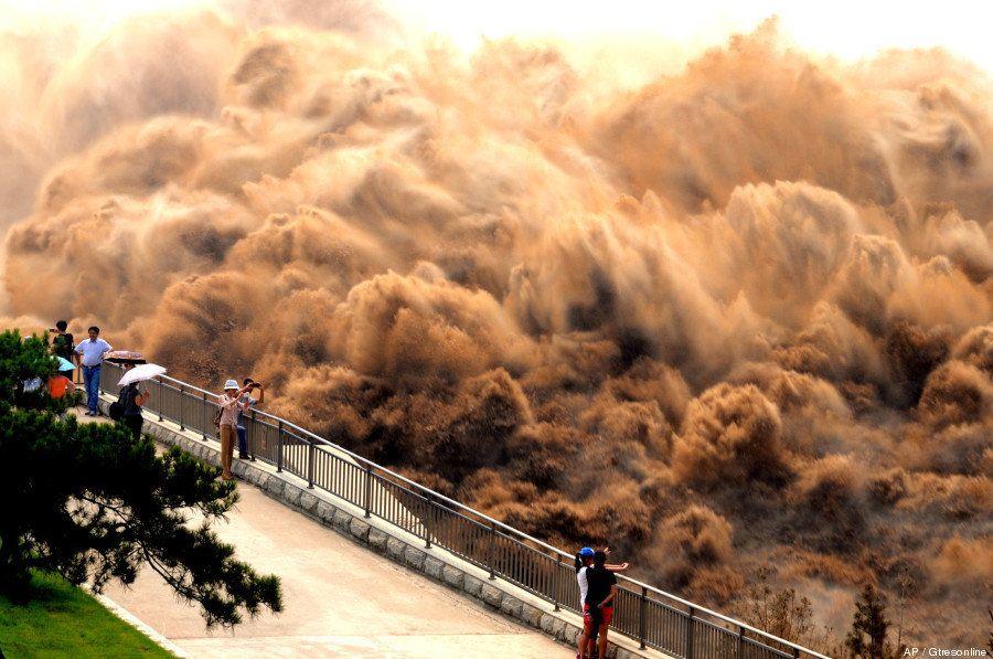 Las impresionantes imágenes del lavado del Río Amarillo
