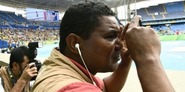 Blind Brazilian photographer Joao Maia takes pictures with his smartphone using the sound as a reference...