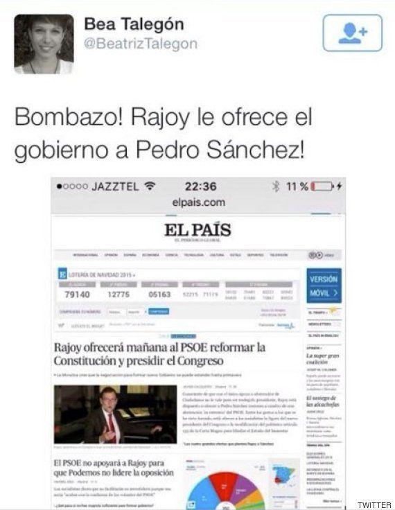 Beatriz Talegón hace el ridículo con esta exclusiva en Twitter y después lo