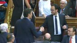 El reencuentro entre Pedro Sánchez y Antonio Hernando
