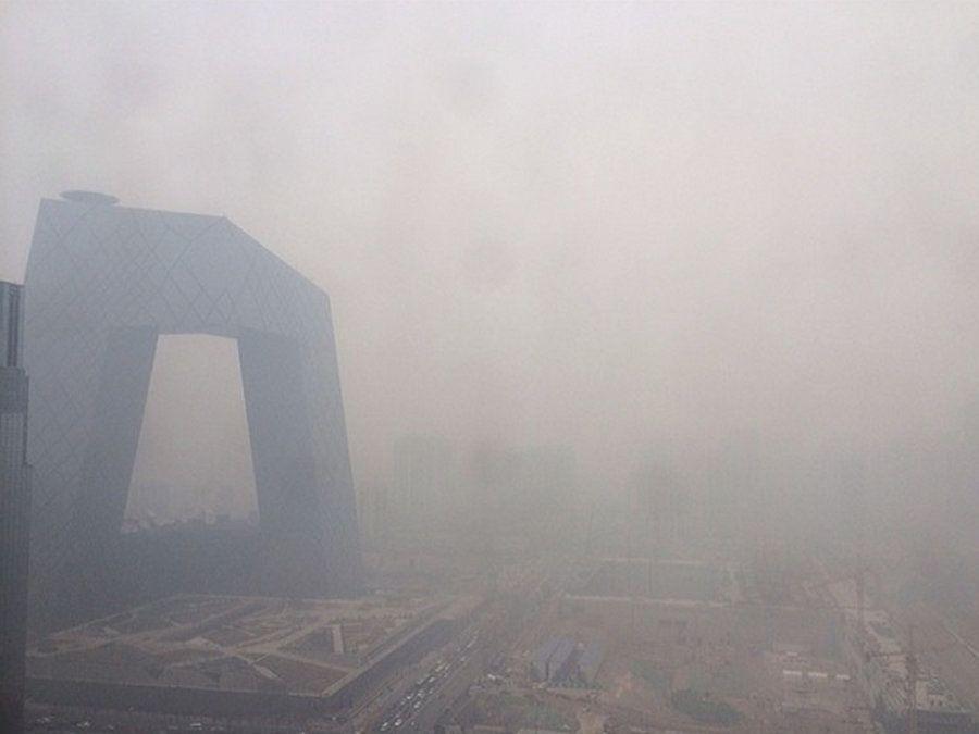 El antes y el después de la nube de polución que cubre Pekín