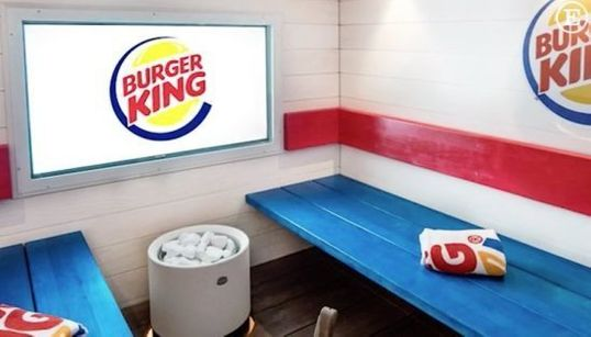 Burger King abre un restaurante-sauna