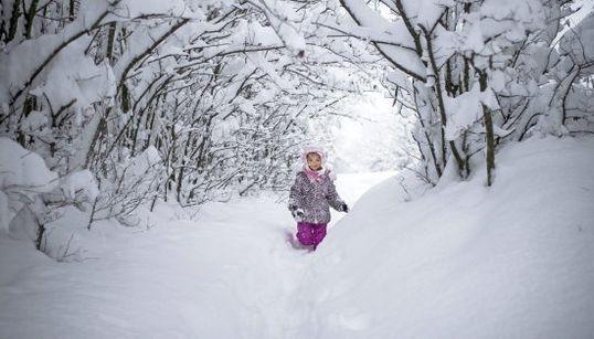 Las imágenes que deja la nieve en Europa