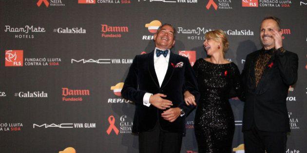 La gala Sida 2015 reúne a cientos de famosos en Barcelona y logra recaudar más de 800.000