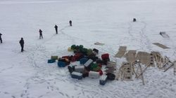 Navegando por la inmensa soledad del hielo del