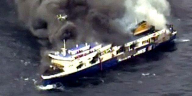 Norman Atlantic: Los equipos de rescate evacuan a todos los pasajeros del ferry