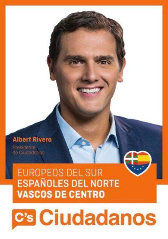 Lluvia de 'memes' con este cartel de C's en el País Vasco y su