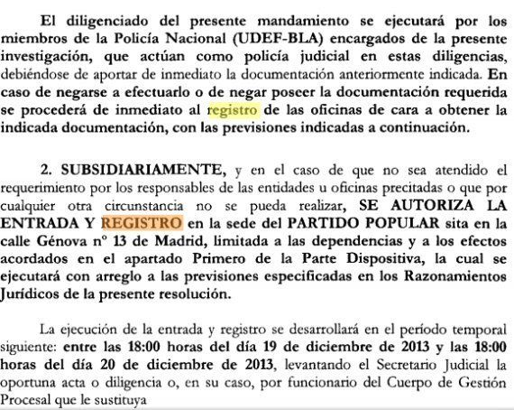 Rajoy sobre el registro de la sede del PP: