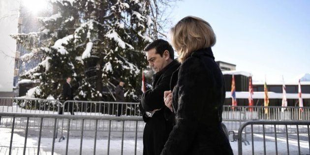 Arianna Huffington met with Greek Prime Minister Alexis Tsipras in Davos, where the two discussed Greece's