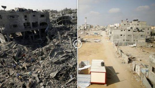 La destrucción en Gaza (FOTOS ANTES Y