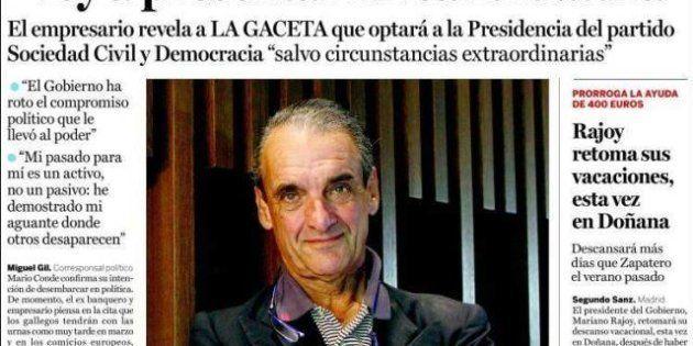 Mario Conde vuelve a la política y defiende su pasado como