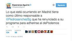 Los cinco tuits enfurecidos de Aguirre tras la polémica por