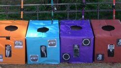 'Cacómetro' electoral en un parque de