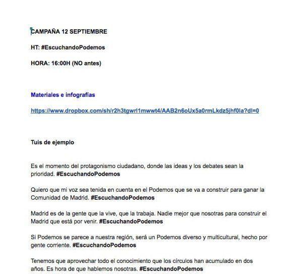 Espinar presenta Podemos Escucha para