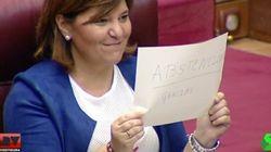 La líder del PP de Valencia se burla así del PSOE en Les