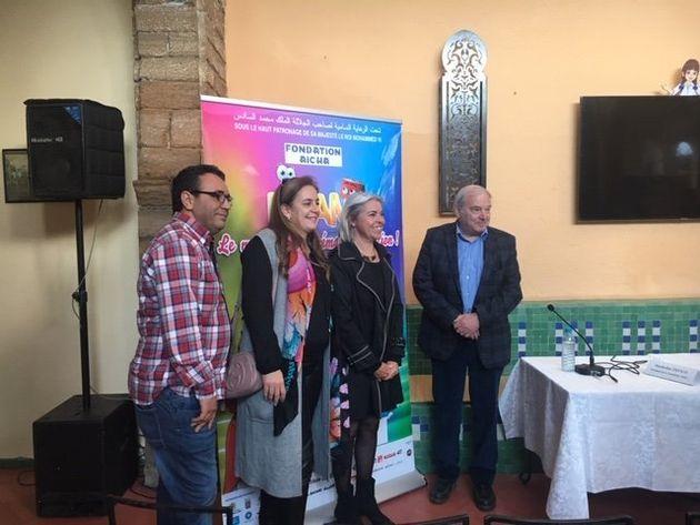 De gauche à droite, Mohamed Beyoud, Directeur artistique du FICAM,Widad Chraibi,directrice...