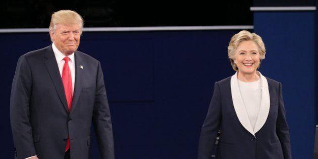 Trump sale vivo de un debate plagado de ataques